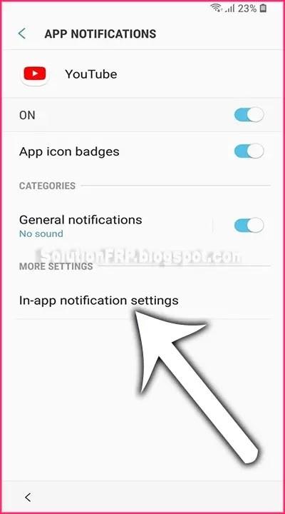 In-app notification settingsoption.