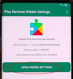 samsung Tab A Open hidden settings